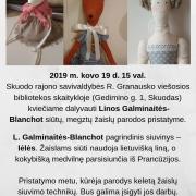 Linos Galminaitės-Blanchot siūtų, megztų žaislų parodos pristatymas.